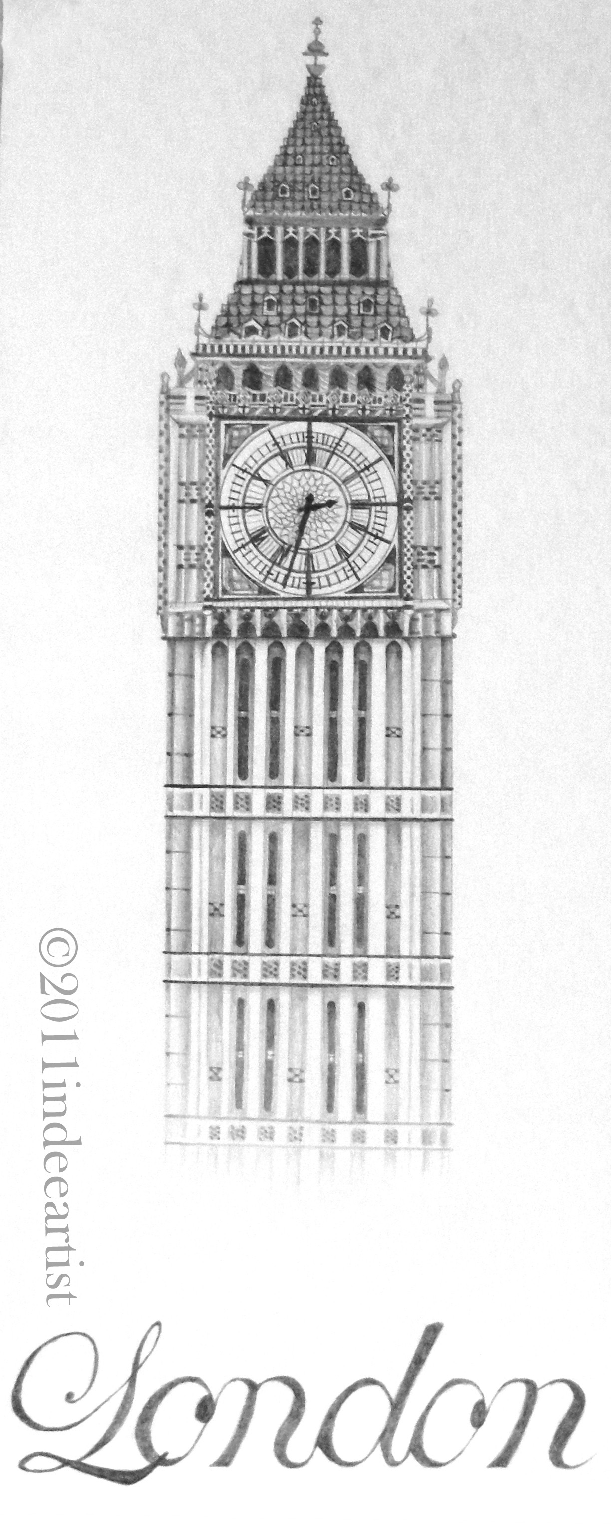 big ben doodle - photo #6