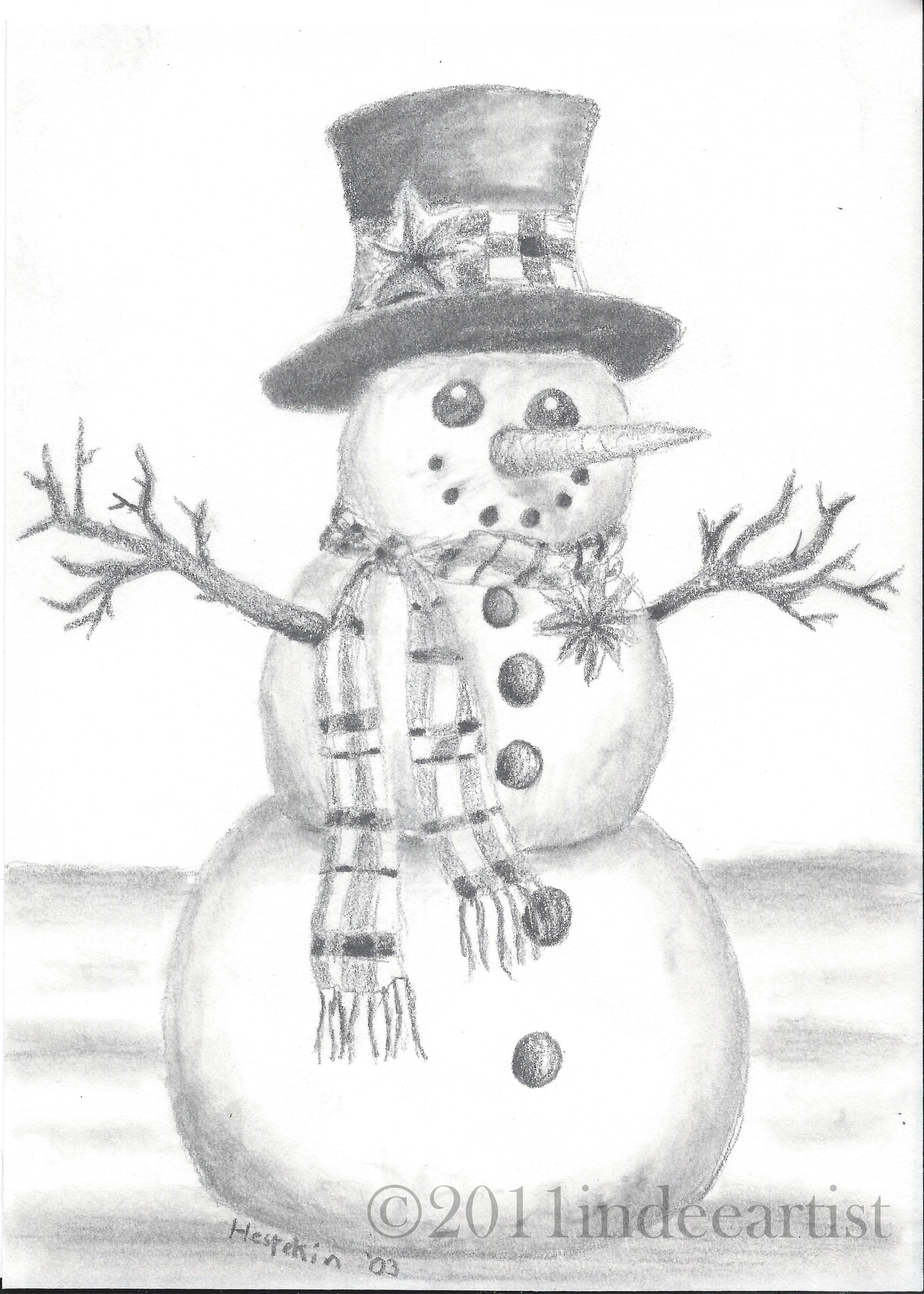 Christmas drawing and card from the cozy red