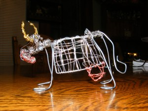 Cow Sculpture.Sold.
