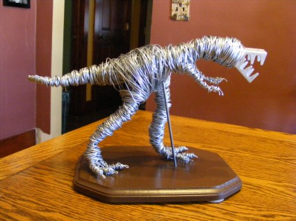 T-Rex Sculpture. Not for sale.