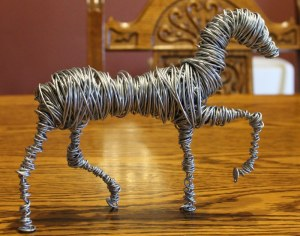 Wire Sculpture Horse WIP 001