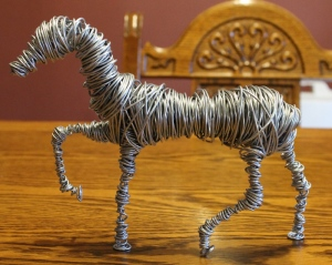 Wire Sculpture Horse WIP 005
