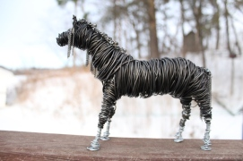Black Horse Sculpture, Cats 013 - Copy