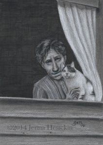 Great-Great Grandma Georgia and Her CatCR