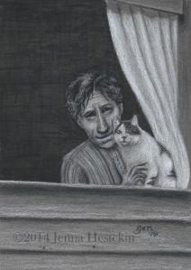Great-Great Grandma Georgia and Her CatCR