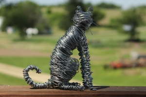 Wire Sculptures, Cat and Bee 001 - Copy