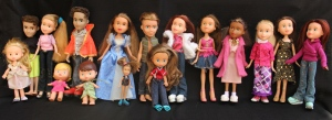 Finished Bratz Dolls Group Photo