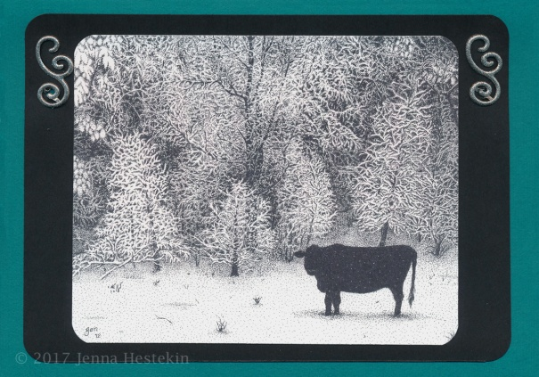 Winter Cow Front CR